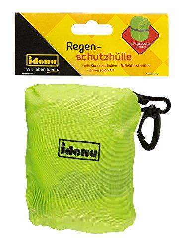 Idena 20055 Regenschutzhülle mit Karabiner für Ranzen und Rucksäcke, Gelb