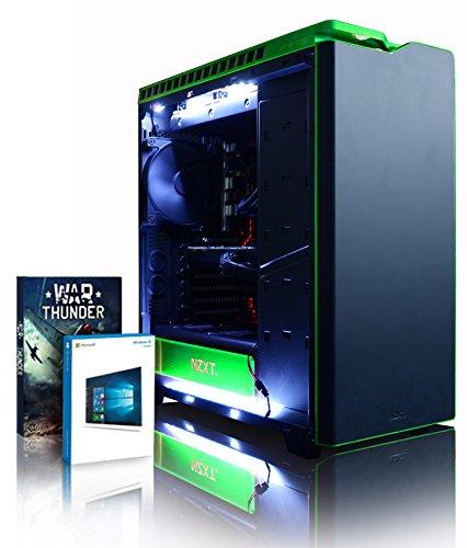 VIBOX Thunder 52 PC Gamer - 4,2GHz Intel i5 Quad Core CPU, GTX 1060, VR prêt, Ordinateur PC de Bureau Gaming avec Watercooling paquet de jeux, unité centrale, Windows 10, Éclairage Interne Blanc (3,8GHz (4,2GHz Turbo) Processeur CPU Quad 4-Core Intel i5 7600K Kabylake, Carte Graphique Nvidia GeForce GTX 1060 3 Go, 8 Go Mémoire RAM 3000MHz DDR4, SSD 500 Go, Disque Dur 2 To, Ventilateur de processeur PC Liquide Corsair H100i GTX, PSU Corsair RM750, Boîtier NZXT H440)