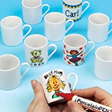 Mini White Porcelain Mug 5cm High for Children to Paint & Decorate As Gifts (Box of 6)