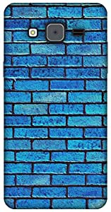 The Racoon Grip brick wall blue hard plastic printed back case / cover for Samsung Galaxy On7
