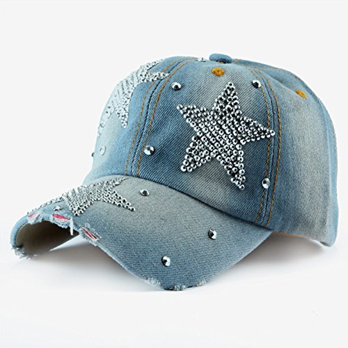 chapeau de cow-boy/Mode pour dames été casquette de Baseball/Cap Sun Diamond/visière A