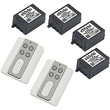 emylo® DC 24V 4x 1canales 433MHz relé de RF inalámbrico inteligente interruptor de control remoto transmisor con receptor