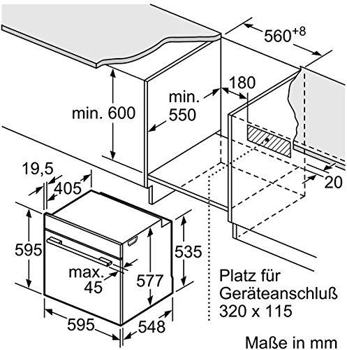 Bosch HNG6764B6 Serie 8 Backofen Elektro / A / 67 L / Vulkan Schwarz / Pyrolyse-Selbstreinigung / Mikrowellenfunktion / PerfectRoast & PerfectBake - 10
