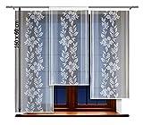 HAFT® Flächenvorhang kurz, Panel kurz, Schiebevorhang kurz, mit Tunneldurchzug Gardine, Vorhang (160 x 60 cm)