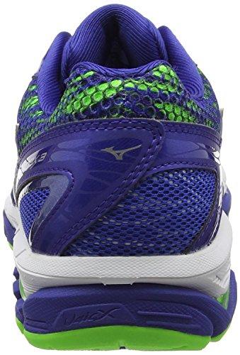 Mizuno Wave Enigma 6 (W), Chaussures de Running Entrainement Homme Bleu (Surf The Web/silver/green Gecko)