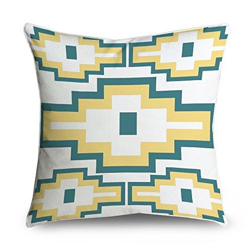 Fabricmcc moderno azzurro e giallo geometrico greco chiave modello Square Accent decorative throw Pillow case cuscino 18x 18