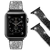 Foxroar Kompatibel für Apple Watch Armband 38mm 40mm, Party King/Queen Luxuriöse Mode Edelstahl...