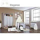 Babyzimmer Felix in akaziengrau 21 tlg. mit 3 türigem Kl. + Elegance in Weiß