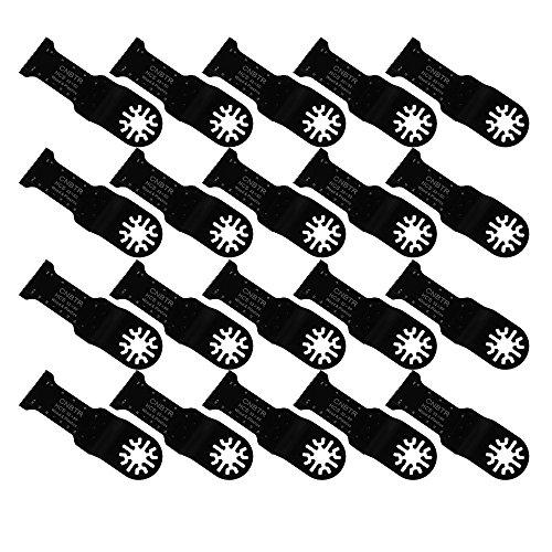 cnbtr schwarz 32x 50mm Carbon Stahl Sägeblatt Universal Pendelndes Multitool Precision Sägeblätter Set von 20