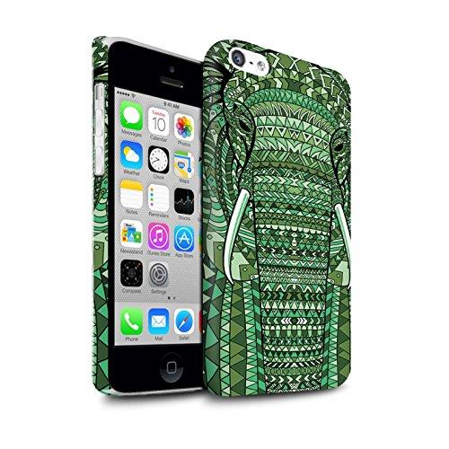 STUFF4 Matte Snap-On Hülle / Case für Apple iPhone 7 Plus / Elefant-Farbe Muster / Aztec Tier Muster Kollektion Elefant-Grün