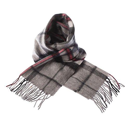 edinburgh, sciarpa multicolore in tartan con 100% lana d'agnello  thomson grey