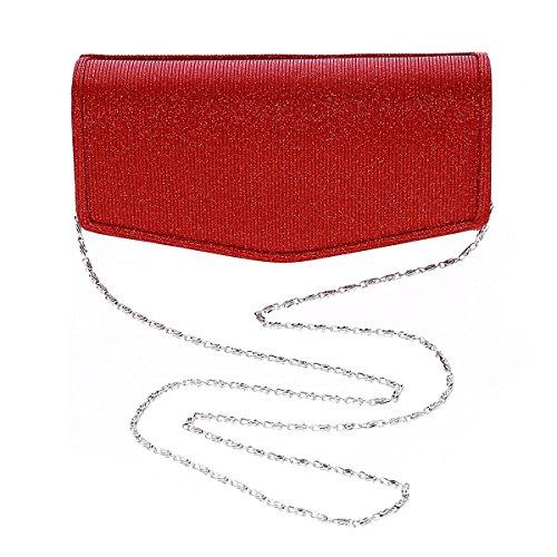Damara® Feier Damen Eigenartig Kettentasche Clutch Abendtasche Gold