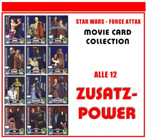 Star Wars Force Attax Serie - Movie Card Collection - Allemand - toutes les cartes 12 additifs Power