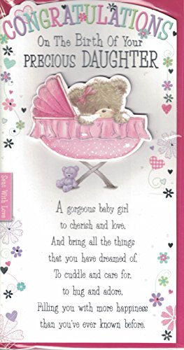 new baby girl card congratulations on the birth