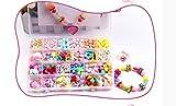VPlus 1 Box Menge ca. 400 Perlen Kinder Perlen Spielzeug DIY Perlen Mädchen Baby Puzzle Hand tragen Perlen Amblyopie Hyperopie Training Perlen Set (zufällig Farbe)