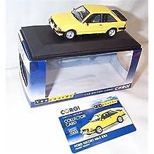 Corgi VANGUARDS Ford Escort MK3 XR3 Amarillo Coche 1.43 Escala Modelo Fundido