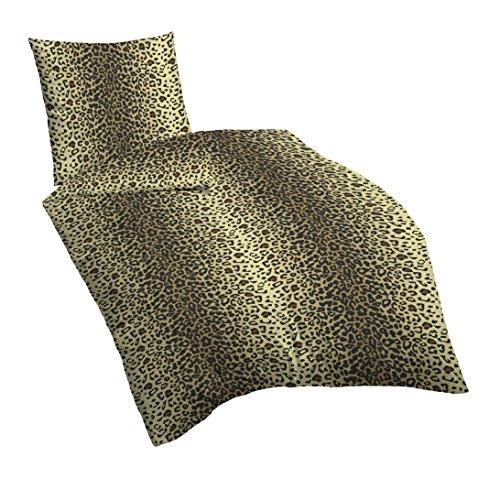 Suenos Bettwäsche Leo, leoparden Muster, 135x200 cm + 80x80 cm -