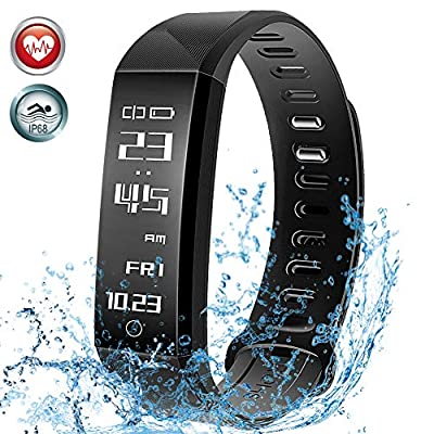 Mpow Fitness Tracker, Smart Bracelet Activity Tracker Bluetooth Pedometer with Sleep Monitor Smartwatch for iPhone Samsung and Other Android or iOS Smartphones by Mpow