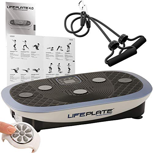 Vibrationsplatte Lifeplate 4.0- 3 in 1 Vibrationsboard: 3D, Oszillation & Kombi inkl. Trainingshandbuch + Trainingszubehör
