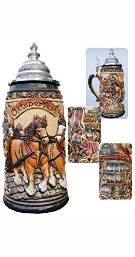 Jarra de cerveza alemana Munich Oktoberfest, jarra 0,5 litros ZO 1915/906