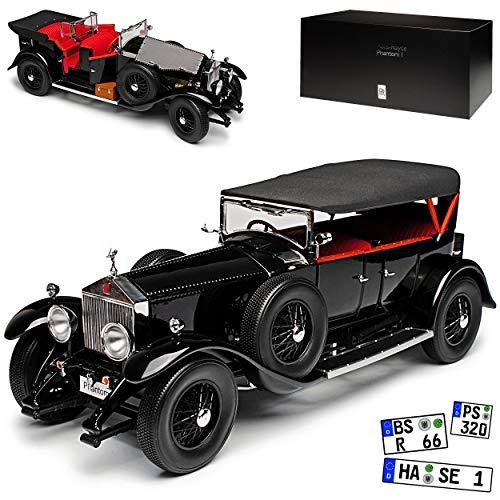 Kyosho Rolls-Royce Phantom I Cabrio mit Dach Schwarz 1925-1931 1/18 Modell Auto - Rolls-royce Phantom Modell