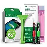 GIGA Fixxoo iPhone 6s Plus Lithium-Ionen Akku Austausch-Set mit Bildanleitung zum Selbermachen; Komplettes Werkzeug Set zur Schnellen & Einfachen Reparatur