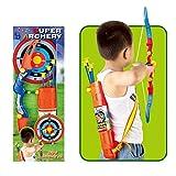 Vetrineinrete® Tiro con l'arco con 4 frecce a ventosa e bersaglio giocattolo per bambini set arciere F6