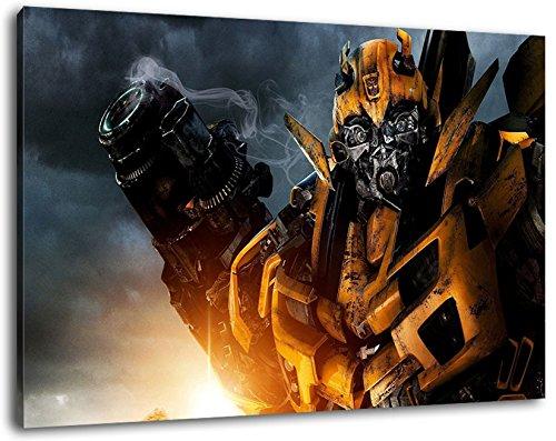 Transformers Format 80x60 cm Bild auf Leinwand, XXL riesige Bilder fertig gerahmt mit Keilrahmen, Kunstdruck auf Wandbild mit Rahmen (Poster Megatron)