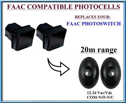 FAAC Photoswitch Lichtschranken Infrarot kompatibel, 12-24V n.c-com-n.o Photocells Liftmaster Security Gate