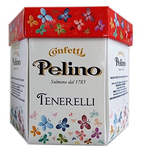 Confetti pelino monoporzionati in bustine singole - ciocomandorla rosso - 300g