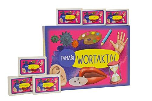 """Lesen & Schreiben: Tamabi """"Wortaktiv"""" Rechtschreibspiel inkl.6 Erweiterungssets, Legasthenie Spiel und LRS Spiel, Gesellschaftsspiel für Kinder ab 6, Brettspiel für die ganze Familie für gemeinsamen Spielspaß mit Wörtern"""