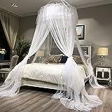 ADQIAO Decke Dome moskitonetz, Doppelbett Prinzessin betthimmel, Europäische Runde Betthimmel -C 200cm(79inch)