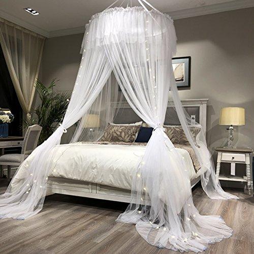 Runde fliegengitter,Drei Öffnungen decke moskitonetz großen bildschirm netting bett baldachin hält entfernt insekten & fliegen moskito netting-C Full-size (Full-size-bett Für Kleinkind)