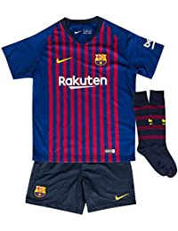 Nike FC Barcelona LK Nk BRT Kit Hm Conjunto 1ª Equipación, Unisex Niños, Azul