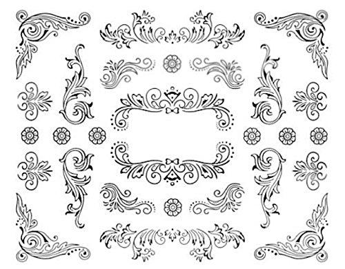 Nail art manucure stickers ongles décalcomanie scrapbooking: fins motifs fleuris design
