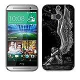 Fubaoda HTC One M8 / M8S Hülle [Müder Engel] Kratzfeste Plating TPU Case für HTC One M8 / M8S Case Schutzhülle Silikon Crystal Case Durchsichtig für HTC One M8 / M8S