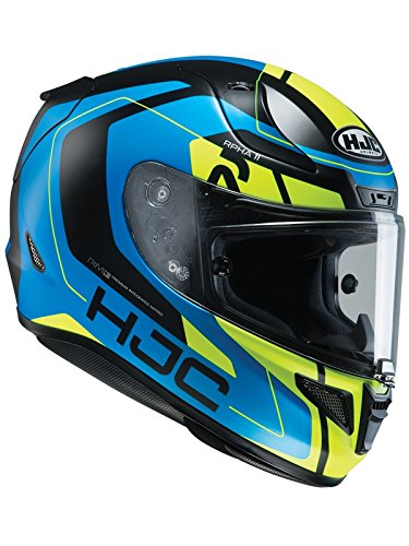 Casco Moto Hjc Rpha 11 Chakri Blu-Fluorescent (L , Blu)