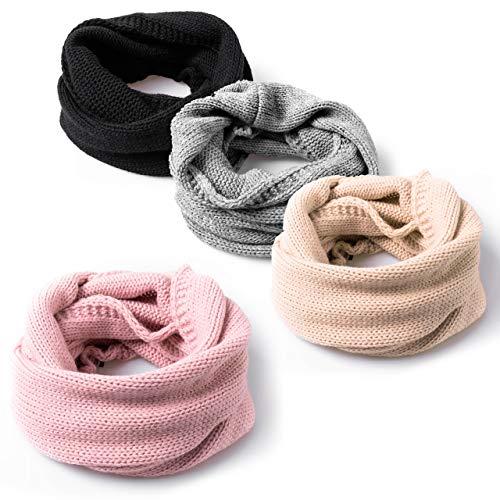 HEYO Damen Rundschal | Winter Loop Schal | H18580 | Weiches Gestricktes Schlauchschal | Warmes Strickschal, Rosa, One Size