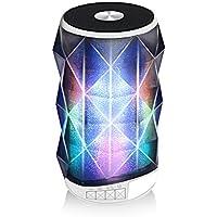 Altavoz Bluetooth con Lámpara LED – JIAMA Color Luz de Mesa / Lámpara de Noche, Inalámbrico Multifuncional, TWS, 8 modos de iluminación de color, Llamada Manos Libres, Ranura para Tarjeta de TF, USB, AUX (Blanco)