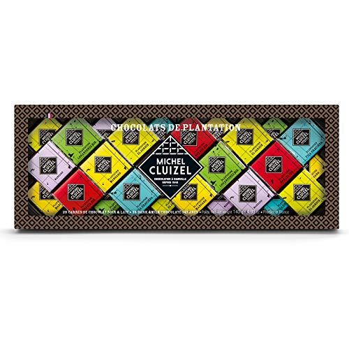 Michel Cluizel Assortiment de Carrés de Chocolat Noir y Lait d