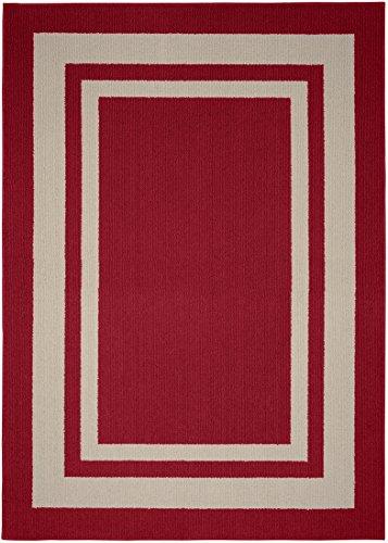 Girlande Teppich Borderline Bereich Teppich Casual Chili Red/Tan - Rechteck, Tan Teppich