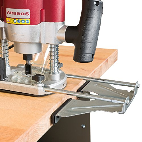 Arebos Oberfräse Holz Fräse maschine Hand Kanten 1200 W, inklusive 12 Fräser und Koffer, 4260199750179 - 9