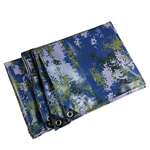 YY_9 Bâche de camouflage épaisse bâche de protection pour bâche de protection étanche imperméable à l'eau en toile de fond, couleur camouflage marine - 450G / M² (taille : 4 * 8m)