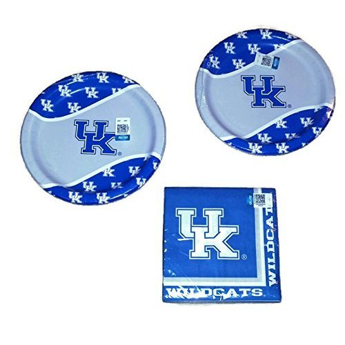 Universität von Kentucky Wildcats Party Bundle 22,9 cm Teller (16) Lunch-Servietten (20)
