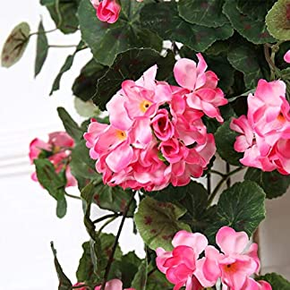 hhkhhgjo Colgando Flores Decoración De Pared Decoración De Vid Flores Artificiales Begonia Rota Decoración De La Boda Sedas Flor Rosa Cadena Guirnalda