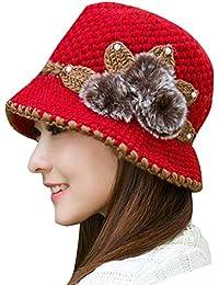 Sannysis Gorro Sombreros de Punto de Invierno Gorra niños niñas Gorros  Sombreros Mujer Vintage Boda Fiesta a553f2fd2f9