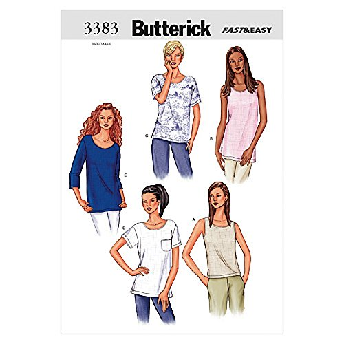 Butterick Ladies Easy Sewing Pattern 3383 - Tops & Tunics Sizes: L-XL
