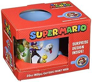 Just Funky Abysse Corp_GIFJFY003 Nintendo - Taza de Cambio de Calor con diseño de Bola de Fuego Mario X1, Multicolor