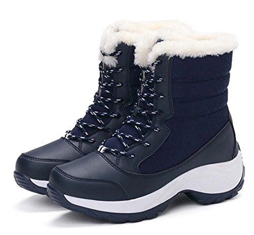 Erhöhte Schneeschuhe Baumwolle Schuhe Wasserdichte Slip Skates Plus Kaschmir Warme Große Größe Outdoor Schuhe ( Color : Blue , Size : 38 ) (Plus Größe Gehen Gehen Stiefel)