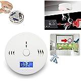 Detectores de Monóxido de Carbono, GOCHANGE Pantalla Digital Alarma de CO, Sensor de CO, Probador de CO Sensor Electroquímico ( No incluye la batería )